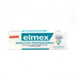Elmex Sensitive 75ml - Sensitive Professional - Lot de 2 + 1brosse à dents offerte