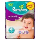 Pampers - Couches Bébé - Active Fit 4 - 7-18 kg - Age 3 - Paquet de 22
